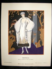 Gazette du Bon Ton by George Barbier 1925 Art Deco Pochoir. Imperia